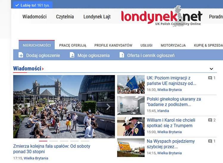 Portal Polaków w Wielkiej Brytanii: Londynek.net