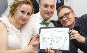 Karykaturzysta na wesele – jak załatwić, jaka cena?