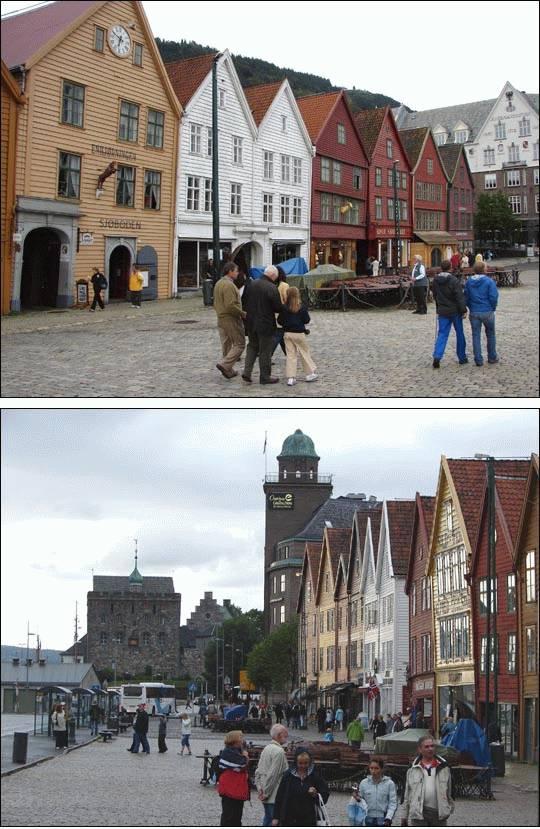 Bryggen w Bergen, Norwegia
