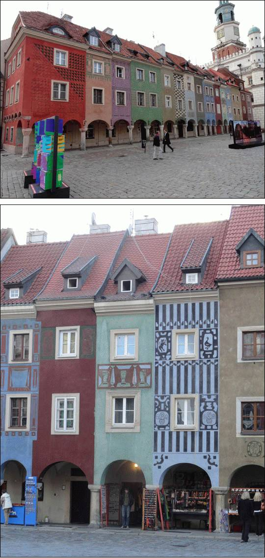 Domki Budnicze na Starym Rynku w Poznaniu