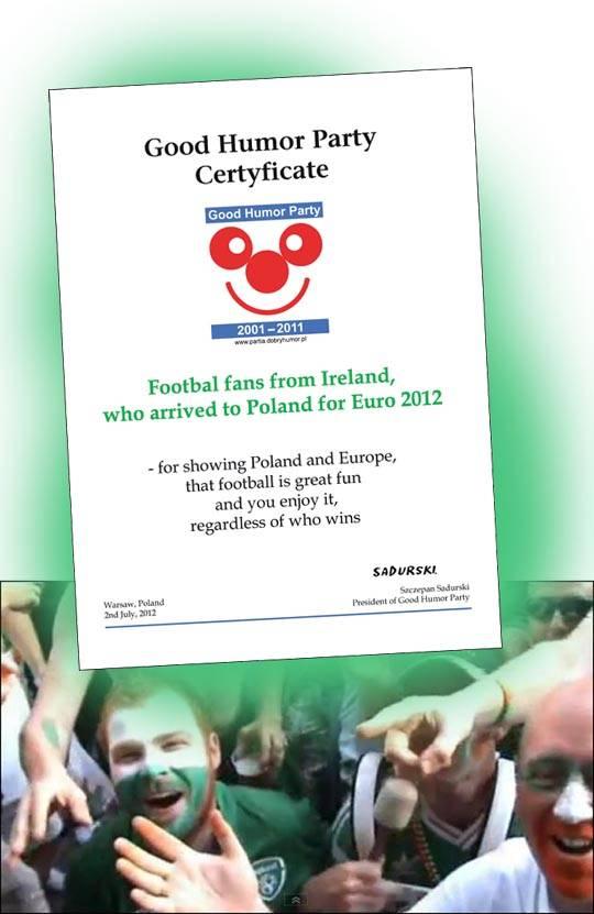 Euro 2012. Do kibiców Irlandii