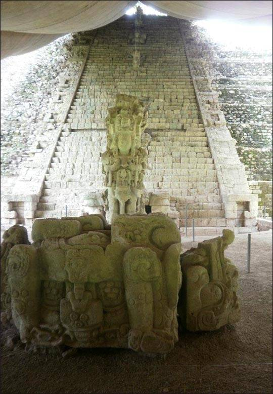 Honduras, ruiny miasta Copan