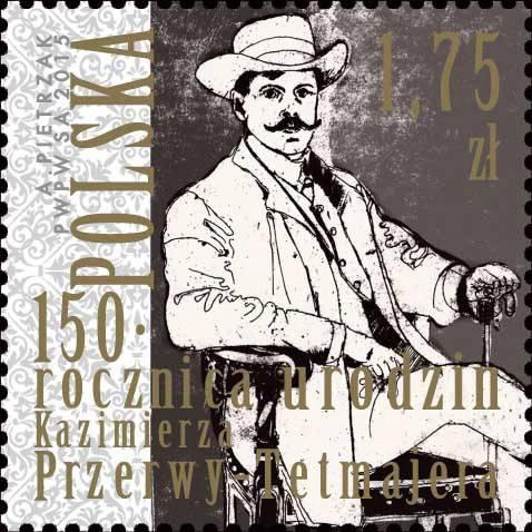 Kazimierz Przerwa-Tetmajer na znaczku pocztowym
