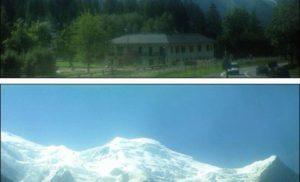 Lodowiec na Mont Blanc
