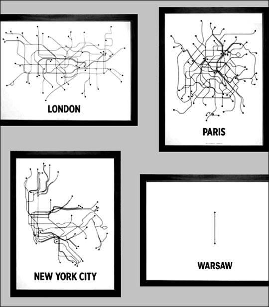 Metro w Warszawie – humor