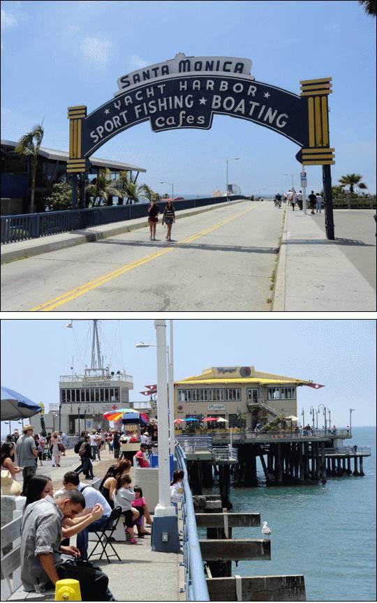Molo w Santa Monica, Kalifornia, USA