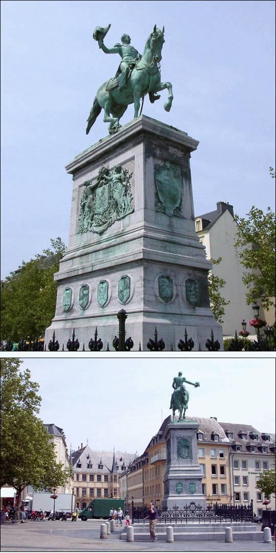 Pomnik Wilhelma II w Luksemburgu miasto Luksemburg ciekawostki zabytki atrakcje