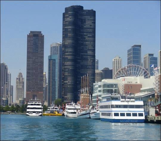 Rejs statkiem po jeziorze Michigan