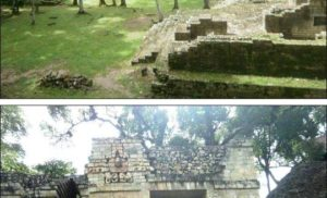 Ruiny miasta Majów w Copan, Honduras