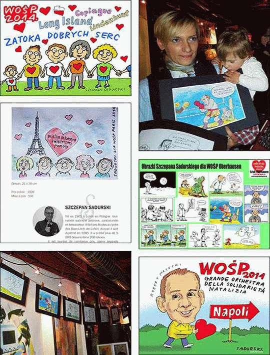 Rysunki humorystyczne dla WOŚP 2014