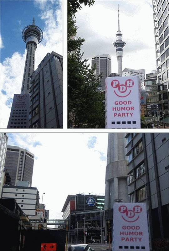 Sky Tower w Auckland, Nowa Zelandia