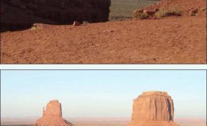 Temperatury w Monument Valley