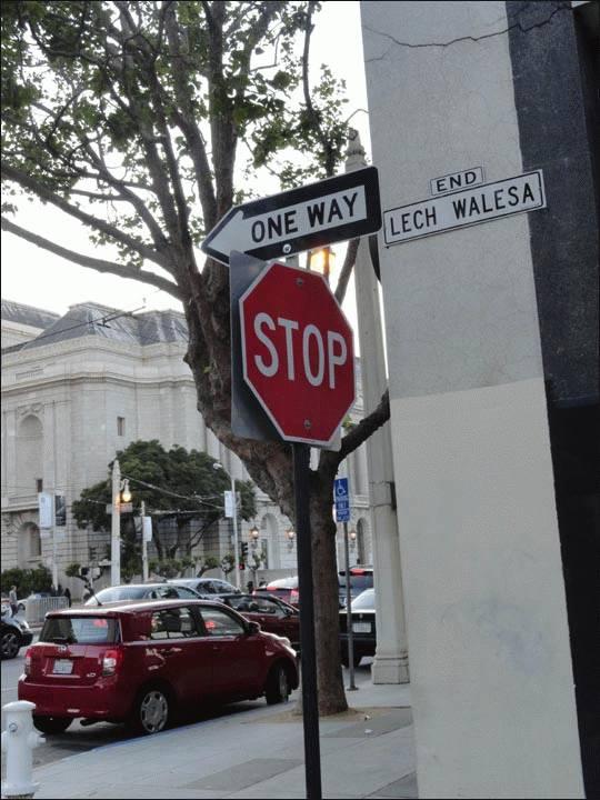 Ulica Lecha Wałęsy w San Francisco