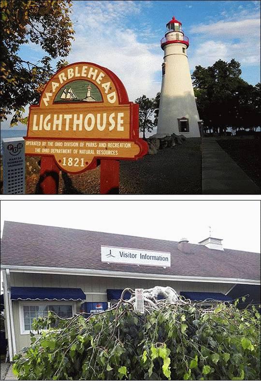 Wesoły wieżowiec odwiedził Marblehead w Ohio
