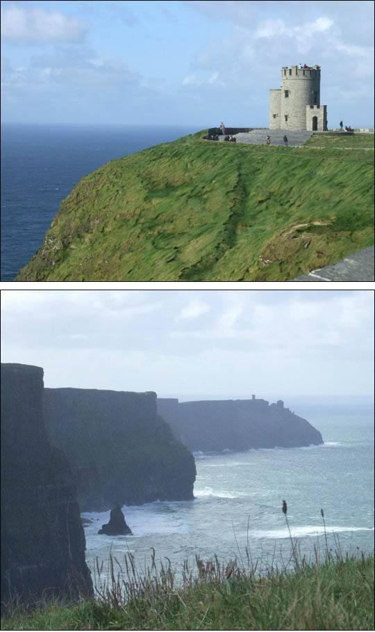 Wieża na Cliffs of Moher, Irlandia