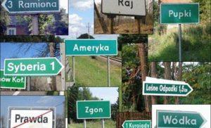 10 najśmieszniejszych nazw polskich miejscowości