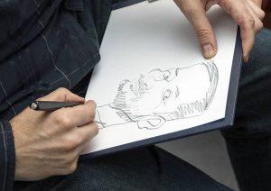 karykaturzysta na event wesele karykatury