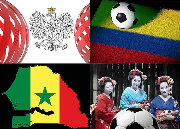 Mundial 2018 ciekawostki. Polska, Kolumbia, Japonia, Senegal