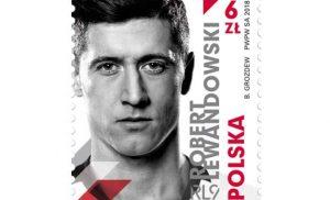 Pierwszy piłkarz na polskim znaczku pocztowym