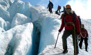 Turystyka lodowcowa w Norwegii. Lodowiec Folgefonna