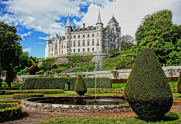 Dunrobin zamek Szkocja ciekawostki o Szkocji