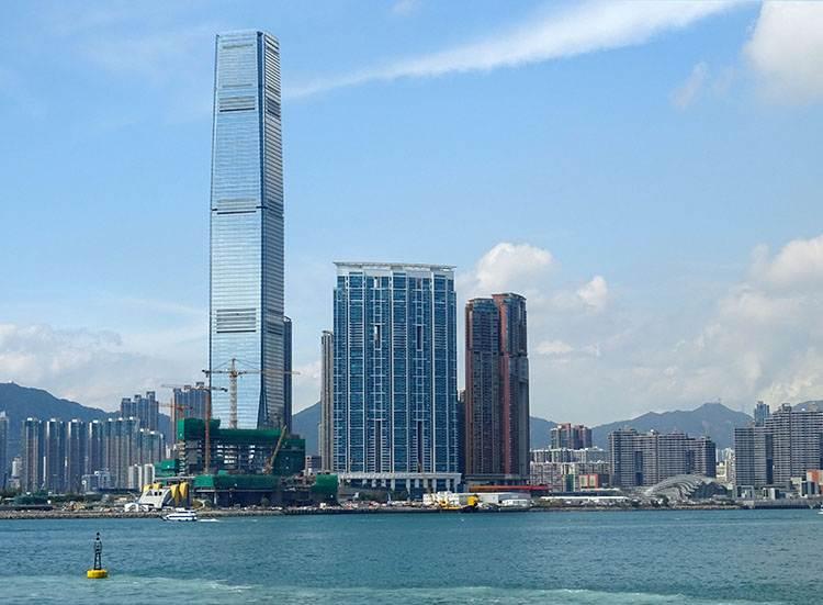 International Commerce Centre miasto Hongkong wieżowiec architektura Hong Kong