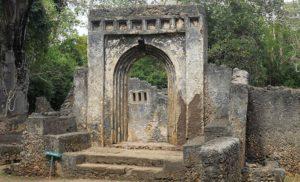 Kenia. Ruiny średniowiecznego miasta Gedi