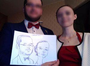 rysownik na wesele karykatury karykaturzysta atrakcje weselne