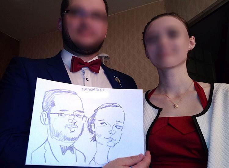 rysownik na wesele karykatury karykaturzysta niecodzienne atrakcje na wesele Białystok weselne