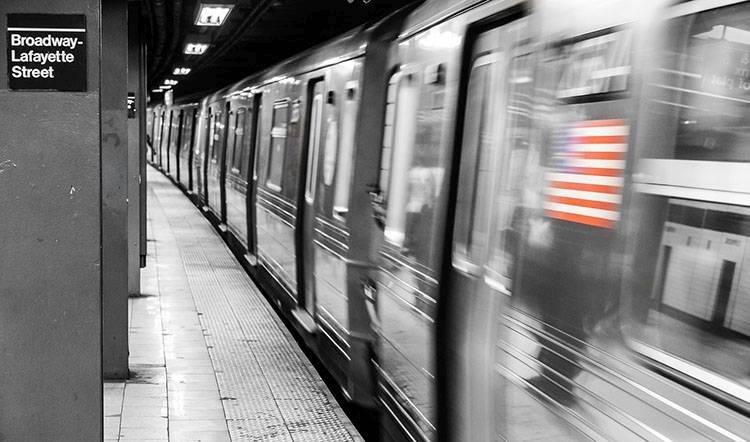 metro subway Nowy Jork NYC flaga amerykańska ciekawostki USA Stany Zjednoczone