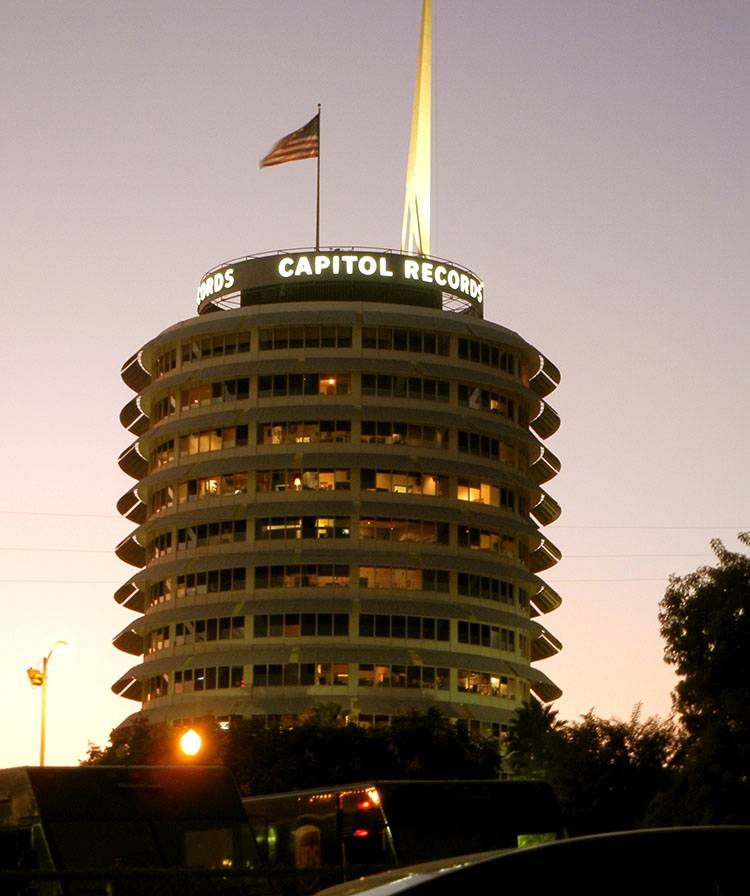 Capitol Records Building Hollywood Los Angeles