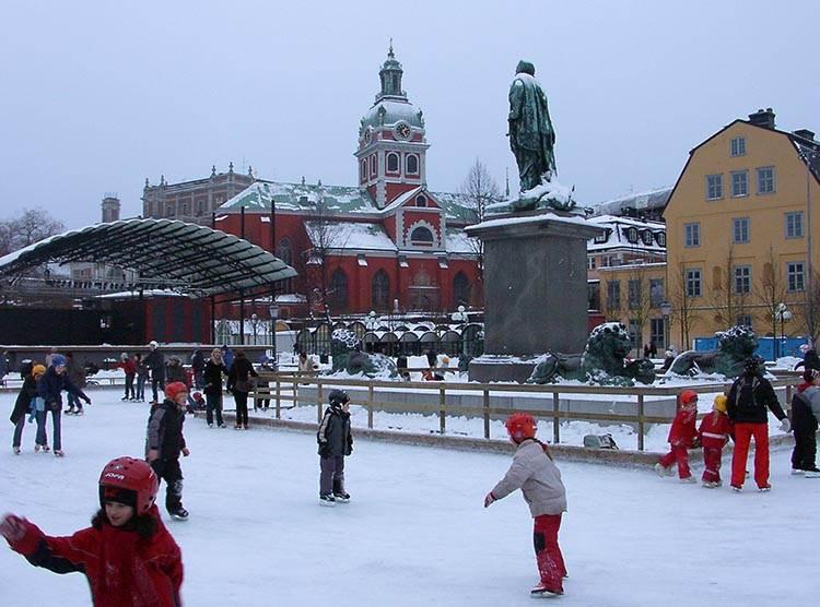 lodowisko Sztokholm ciekawostki atrakcje zima Szwecja
