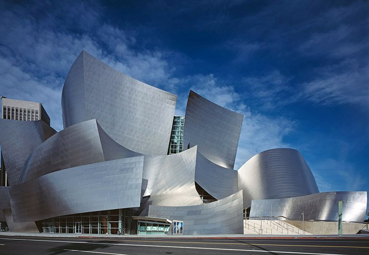 Walt Disney Concert Hall w Los Angeles