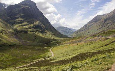 Dolina Glencoe w Szkocji