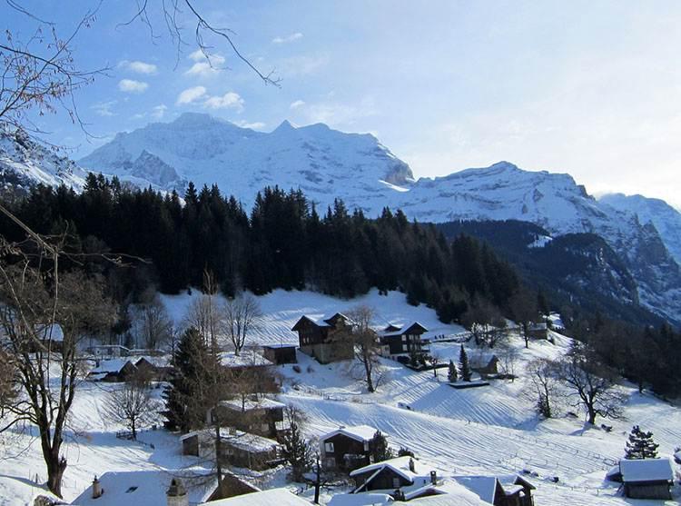 Szwajcaria zimą. Haslital i Jungfrau