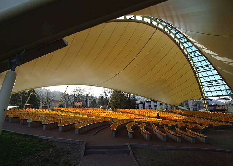 miasto Wisła ciekawostki amfiteatr