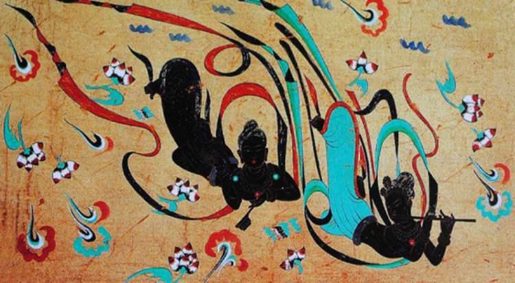 Dunhuang freski malowidła jaskinie Mogao Chiny