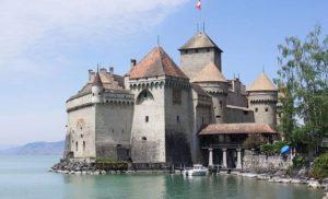 Monreux, Szwajcaria i Zamek Chillon