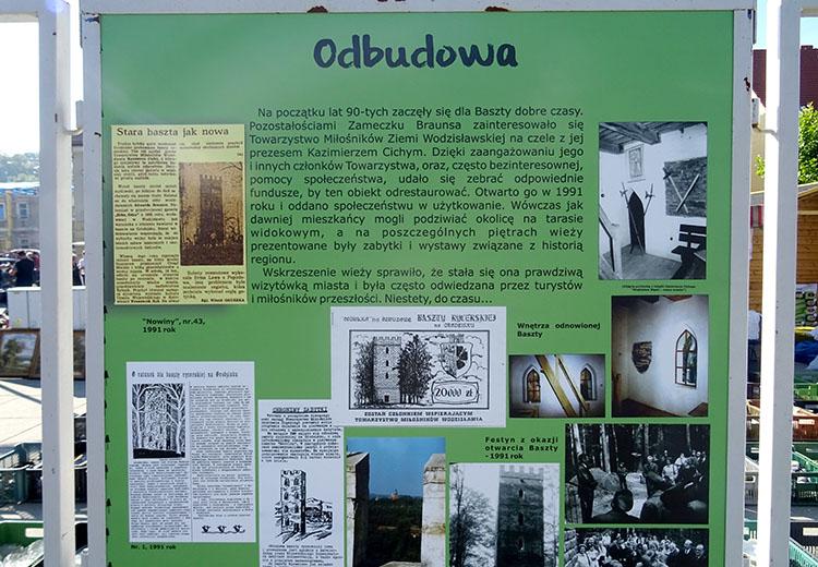 tablica rynek baszta rycerska Grodzisko Wodzisław Śląski ciekawostki atrakcje zabytki