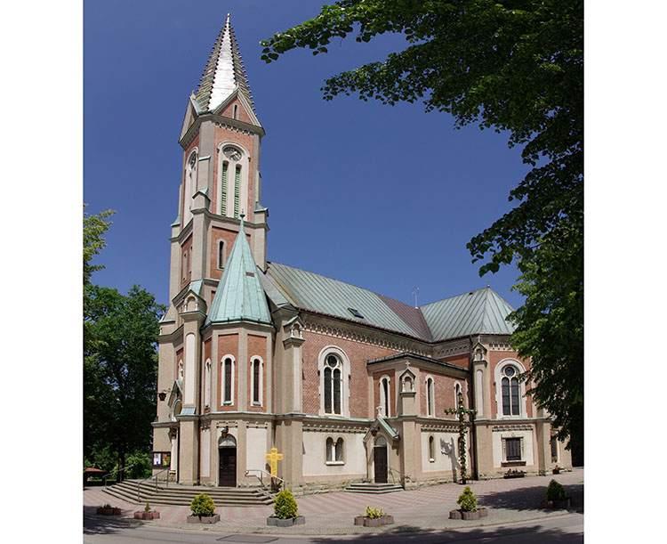 kościół wieś Kozy ciekawostki zabytki