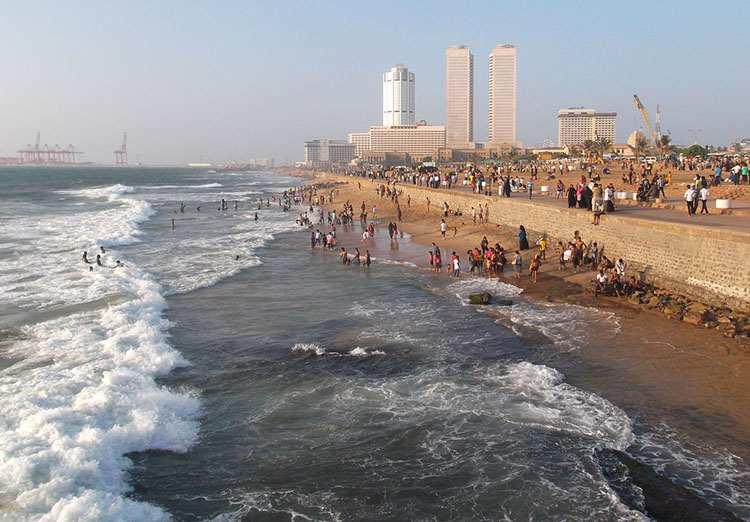 miasto Colombo plaża Sri Lanka atrakcje